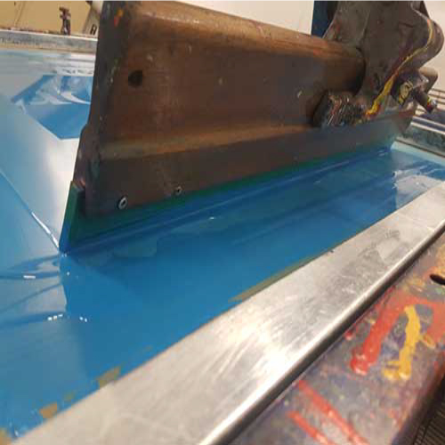 an image of a screen printing squeegee