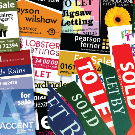 estate agent signs samples